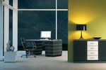 Müller: durch die Farbpalette in allen RAL-Tönen passen die Möbel in unterschiedlichste Räume. Sie werden Ihre Freude daran haben. Immer wieder.