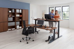 Crew - wechselndes und dynamisches Arbeiten im Büro.