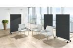 Hochwertig in der Qualität mit breitem Funktionsspektrum sind die Stellwände Viteco besonders geeignet, Büroräumen mit Publikumsverkehr flexibel und optisch ansprechend Struktur zu verleihen.