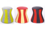 Der Hocker FUNGO von Löffler - in tollen Farben erhältlich, gestreift oder einfarbig!