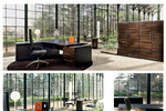 Chefzimmer Modell Ego - Kirschbaum, Ebenholz, Wenge: Sinetica interpretiert die Schönheit und die Ausdruckskraft des Holzes, in dem sie die wertvollste Holzart für Prestige und Aktualität sucht.
