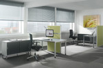 Stellwände von Assmann in frei stehender oder mobiler Variante und zur Tischmontage lieferbar